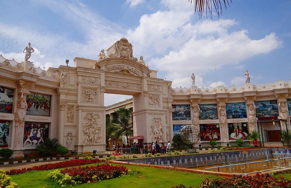 Film City, Entrance, Gate, Structure, Building
