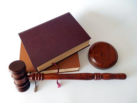 Martillo Libros Ley Tribunal Abogado Párra