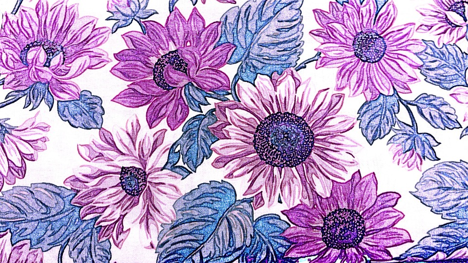 Fabric Flowers Floral Design Pattern Vintage Public Domain