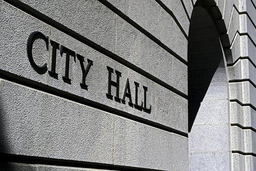 市庁舎, 建物, ホール, ロサンゼルス, 政府