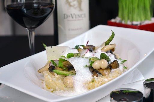 Risotto, Italiano, Vino, Los Alimentos