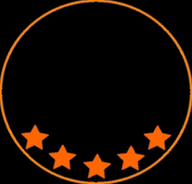 星 5 つ星 ロゴ pixabayの無料画像