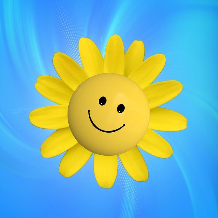 Sonne, Freude, Smilie, Strahlen, Glück, Glücklich