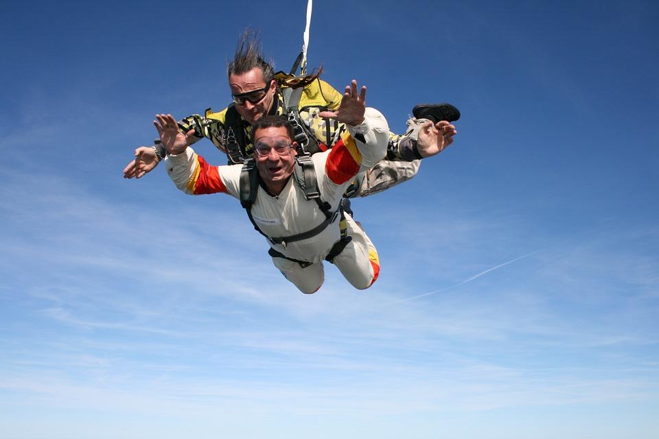 スカイ ダイビング, スポーツ, 極端な, エスケープ, 空, 美容, デュオ, ノルマンディー, 航空機