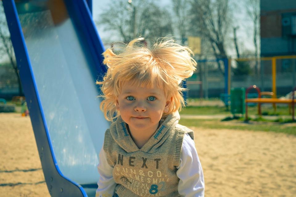 Boy, Child, Play, Playground, Blonde, Little, Happy
