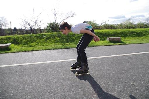 Rollerblades, Teen, Fun, Downhill, Boy