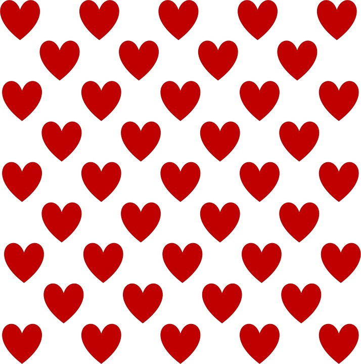 Free Illustration Heart Pattern Design Template  Free Image