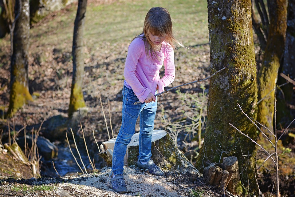 Human, Child, Girl, Blond, Outdoor Nature, Play