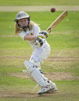 Cricket, Batting, Batter, Girl, Junior