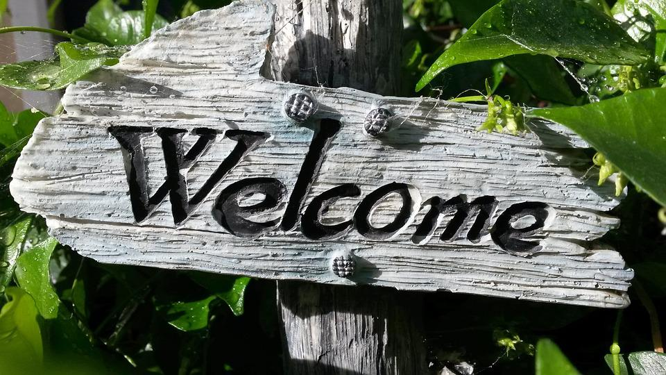 Welcome Sign, Garden Decoration, Welcome, Home