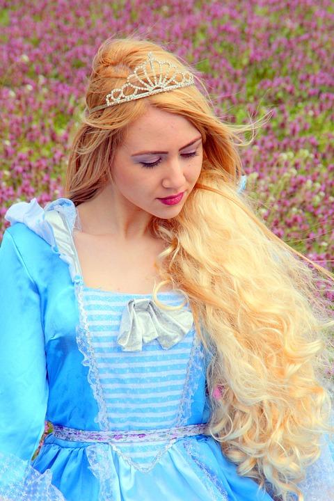 Girl, Princess, Blond Hair, Dress, Story, Spring