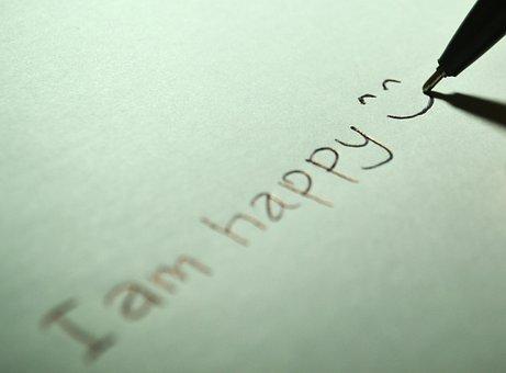 幸せ, 私は幸せです, 笑顔, 幸福, 喜んで, 楽しい, にこやか, シンボル