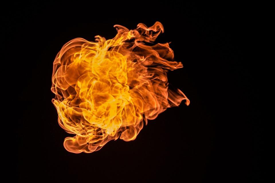 炎, 火, インフェルノ, オレンジ, 燃焼, 可燃性, 書き込み