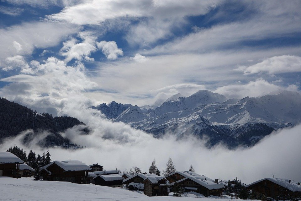 mountain snow clouds - photo #2
