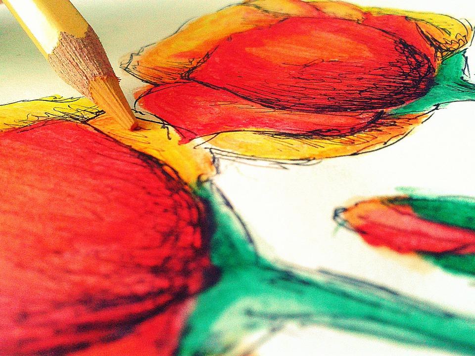 Dibujo Arte Flores Foto Gratis En Pixabay