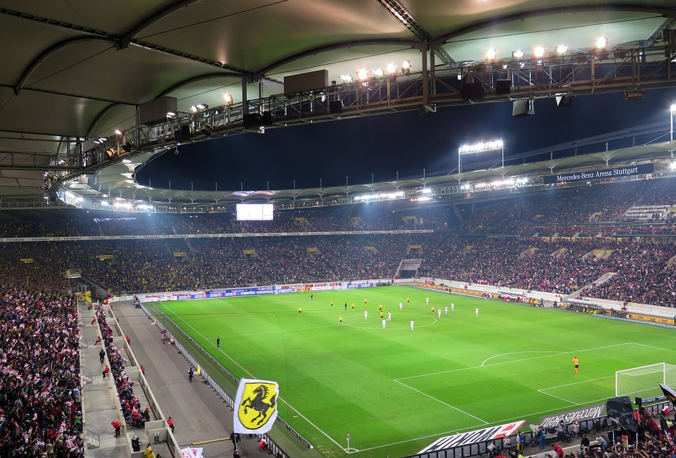 Stadium, Football, Arena, Mercdes Benz Arena, Stuttgart
