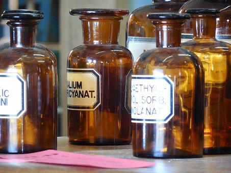 Apothecary, Bottles, Medicine, Medical