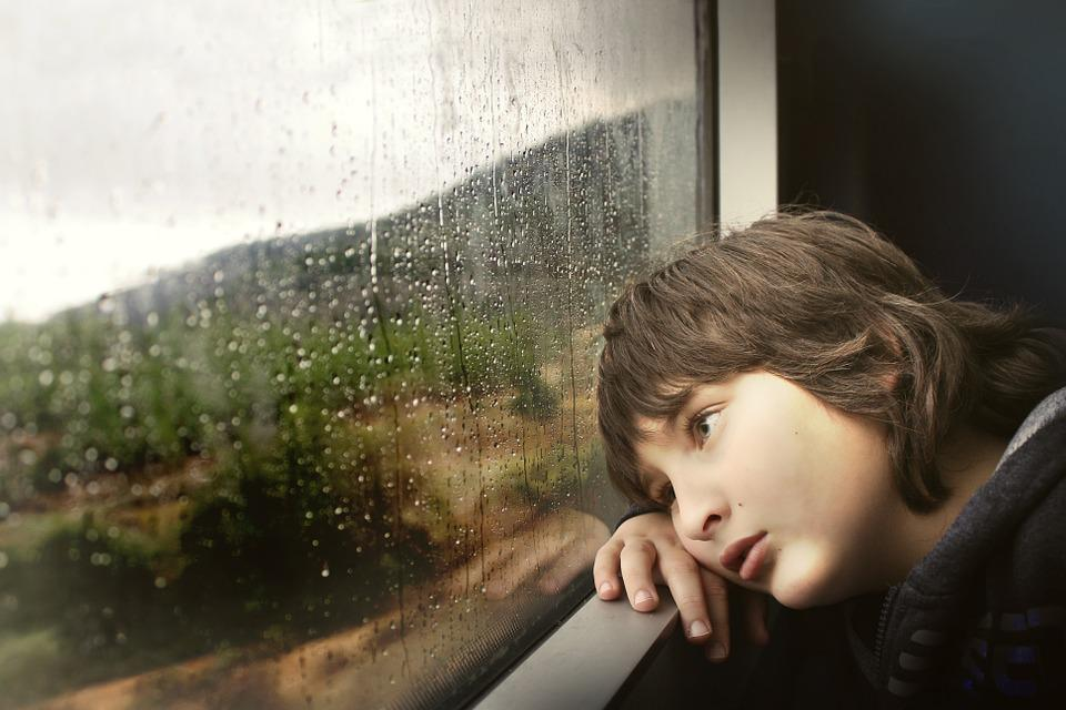 Person, Little, Boy, Kid, Child, Inside, Train, Rail