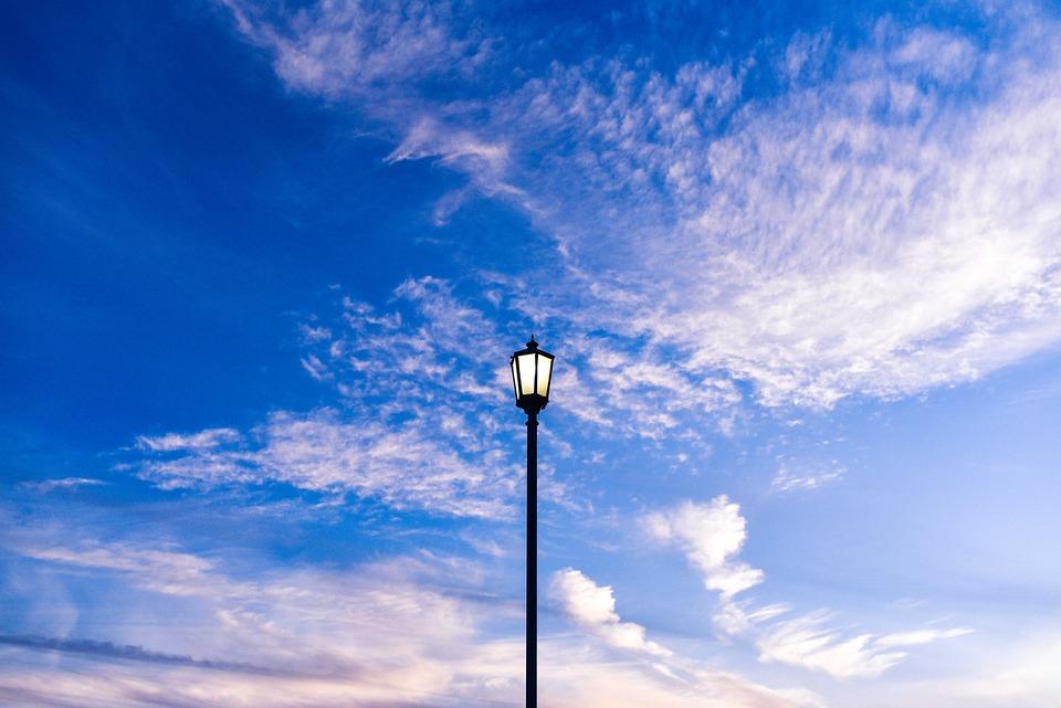 Sky Blue Clouds Street Light Lantern Clear & Free photo: Sky Blue Clouds Street Light - Free Image on ... azcodes.com