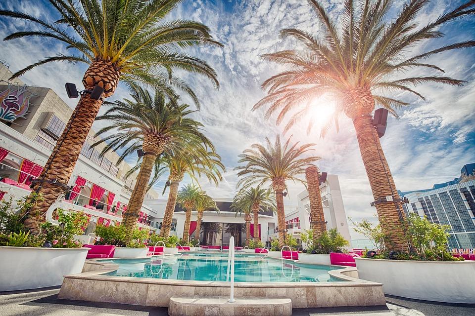 Piscina, Hotel, Verano, Vacaciones, El Agua, Turquesa