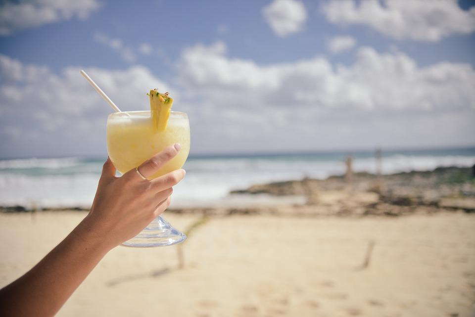 Kvinde, Hånd, Bedrift, Cocktail, Glas, Stor, Drik, Kold