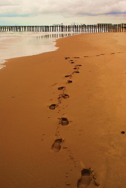 Fußbabdruck, Fußbabdrücke, Sable, Traces