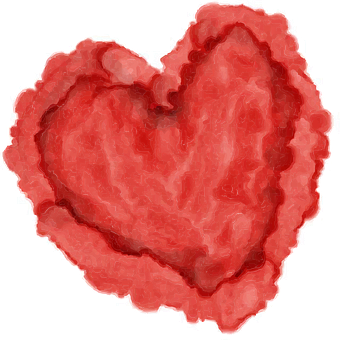Heart, Watercolor, Red, Valentine, Day
