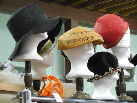Mannequin Hats Fashion Style Female Design