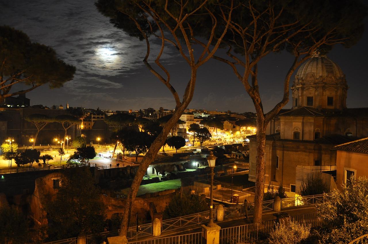 ночной город фото ночного рима гол
