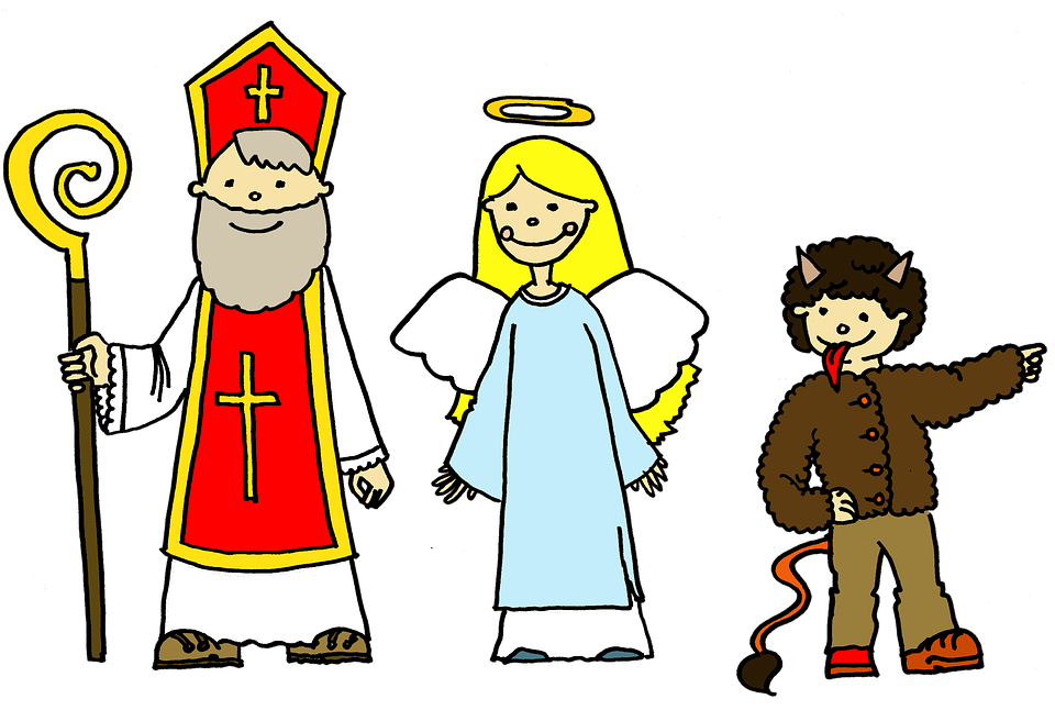 Mikuláš, Angel, Devil, Tinker, Presents