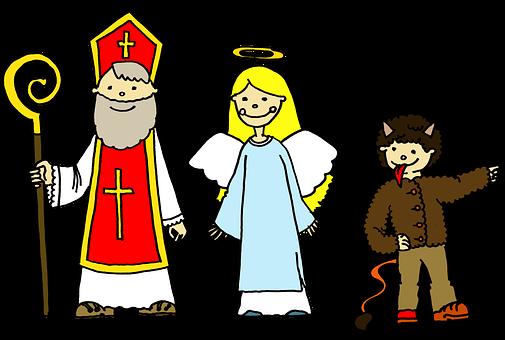 Mikuláš, Anděl, Čert, Čertík, Nadílka