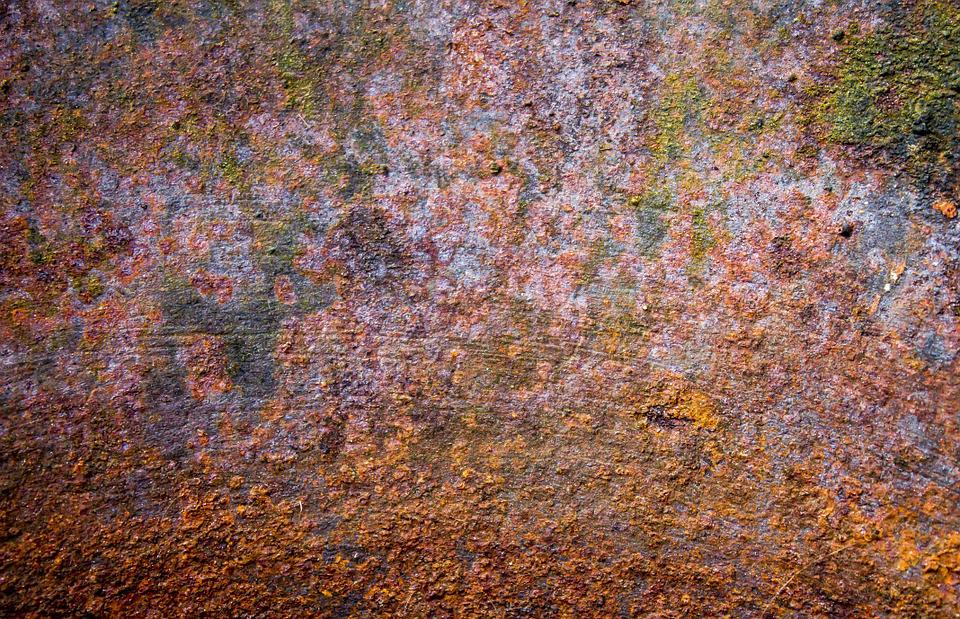 Rust Dyed Metal Old Rusty Color