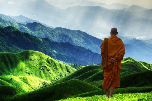 Buddhist Monk Buddhism Meditation Enlighte