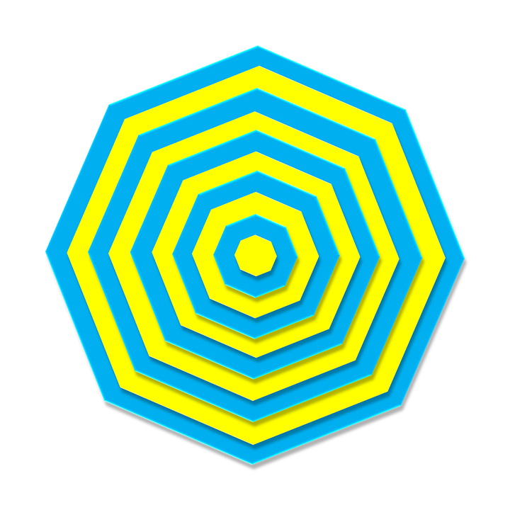 free illustration  aqua  yellow  3d  octagon  metal - free image on pixabay