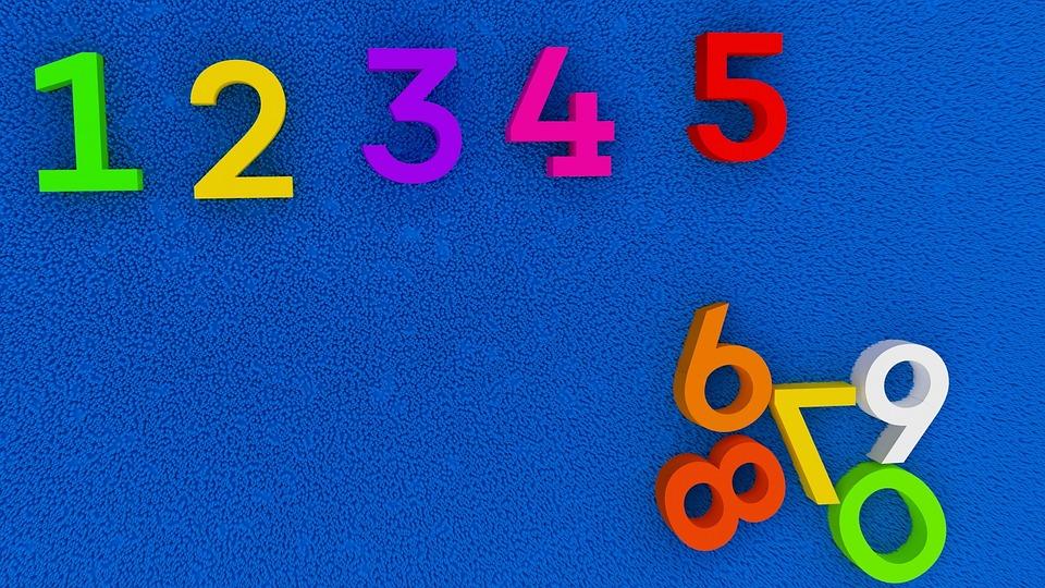 数字、教育、幼稚園、学校、ブルースクール