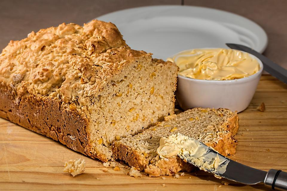 Corn Bread, Loaf, Fresh Bread, Maize, Baked, Food