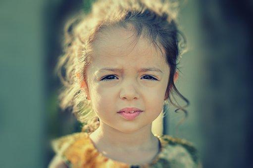 Girl, Worried, Portrait, Face, Sad