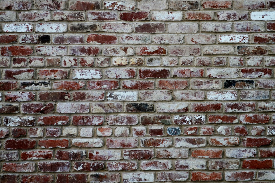 broken brick wall graffiti