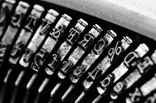 種類, タイプライター, ブラック ホワイト