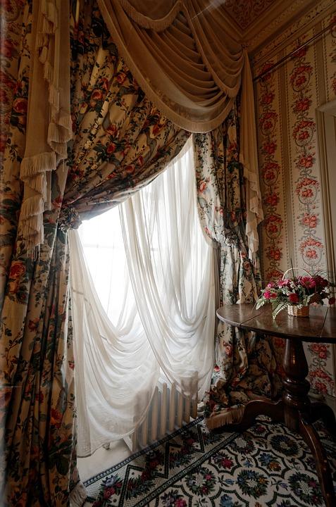 venster gordijnen oude licht kamer textiel decor