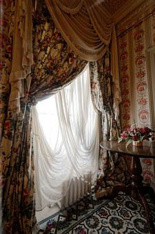Window, Drapes, Old, Light, Room