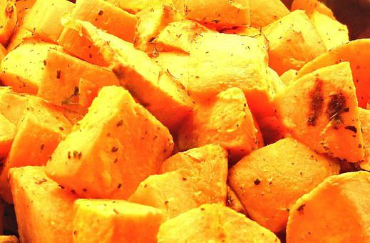 Sweet Potatoes Roasted Olive Oil Rosemary