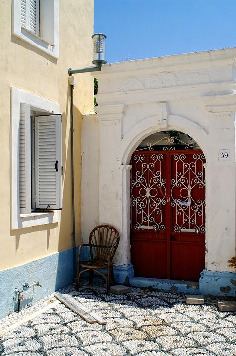 Griechenland Rhodos Hinterhof Kostenloses Foto Auf Pixabay