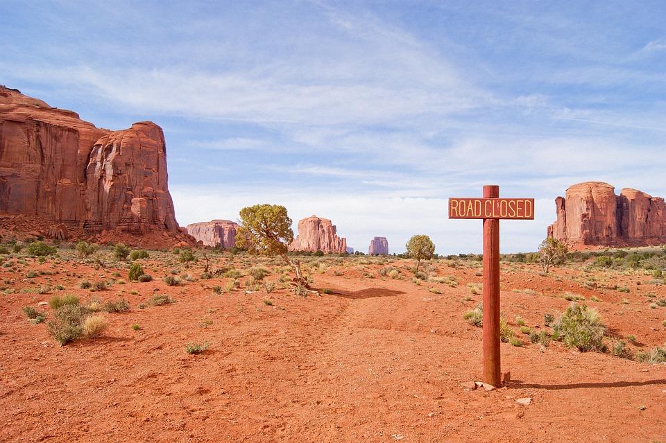 アメリカ, 砂漠, 熱, 草原, 道路, モニュメントバレー, サボテン, オレンジ色の風景, 停止