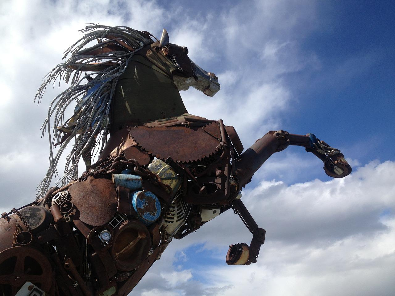 Iron Horse Scrap Metal Art Free Photo On Pixabay
