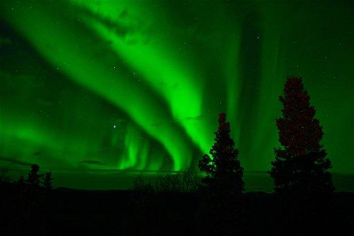 Aurora Borealis, Northern Lights, Green