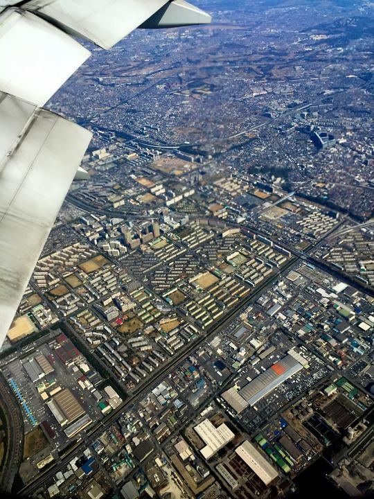 Plane Aerial Photography City Bird View Tokyo