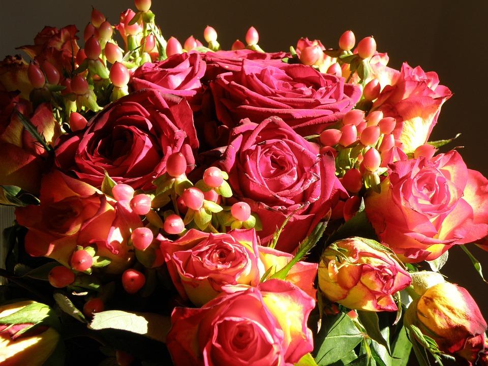 Rose Bouquet Fleurs Photo Gratuite Sur Pixabay