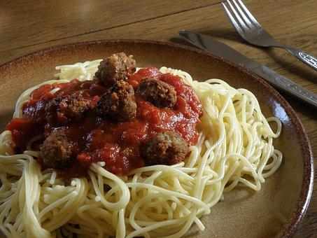 Spaghetti, Meatballs, Pasta, Lunch