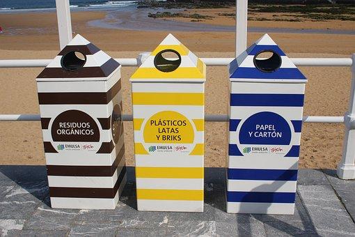 Recycling, Bin, Spain, Recycle